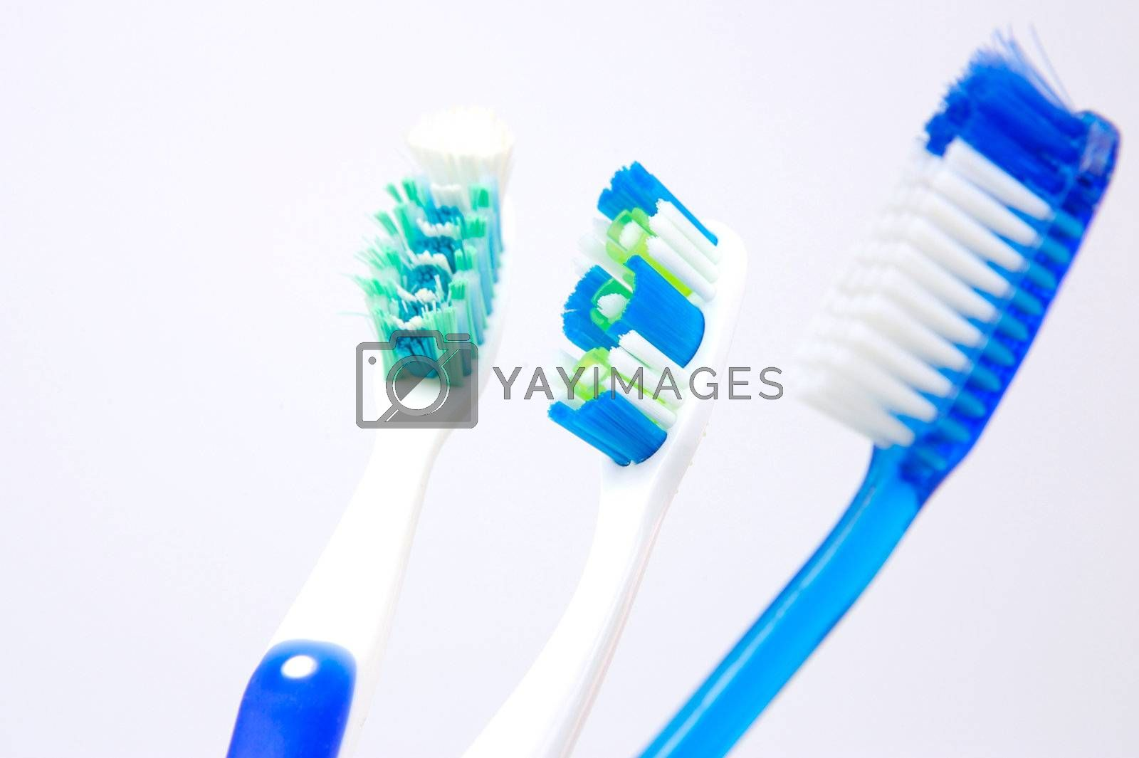 Dental products isolated against a white background