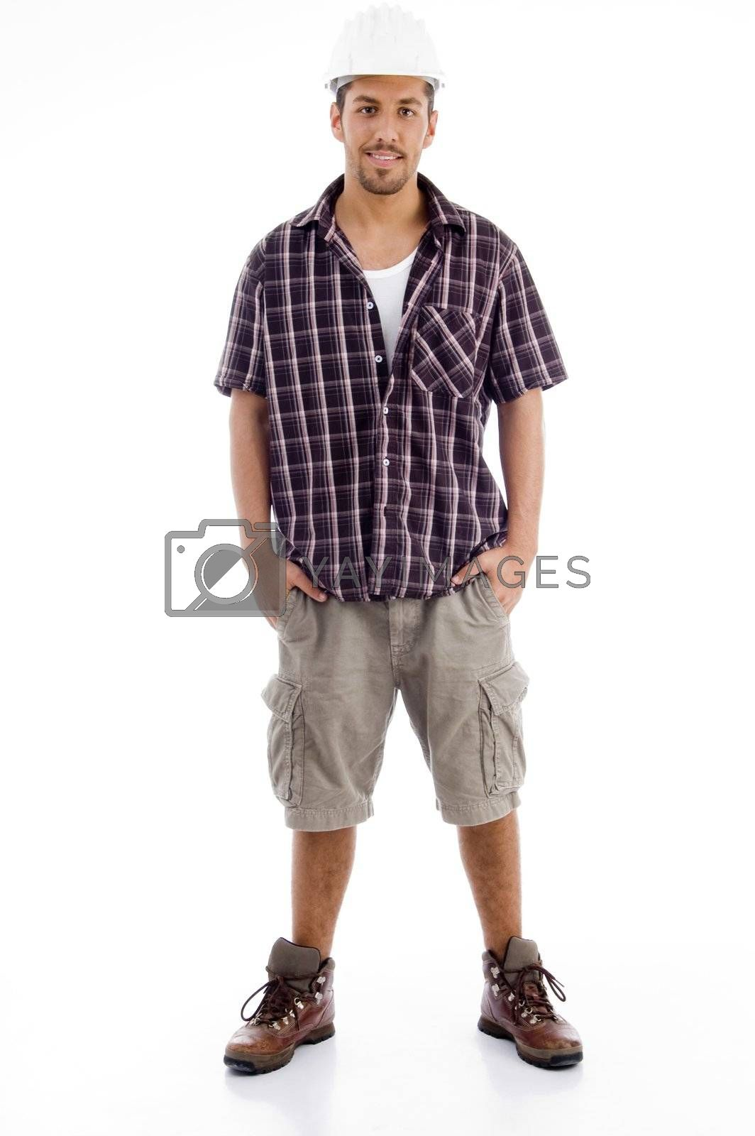 Royalty free image of casual male in standing pose by imagerymajestic