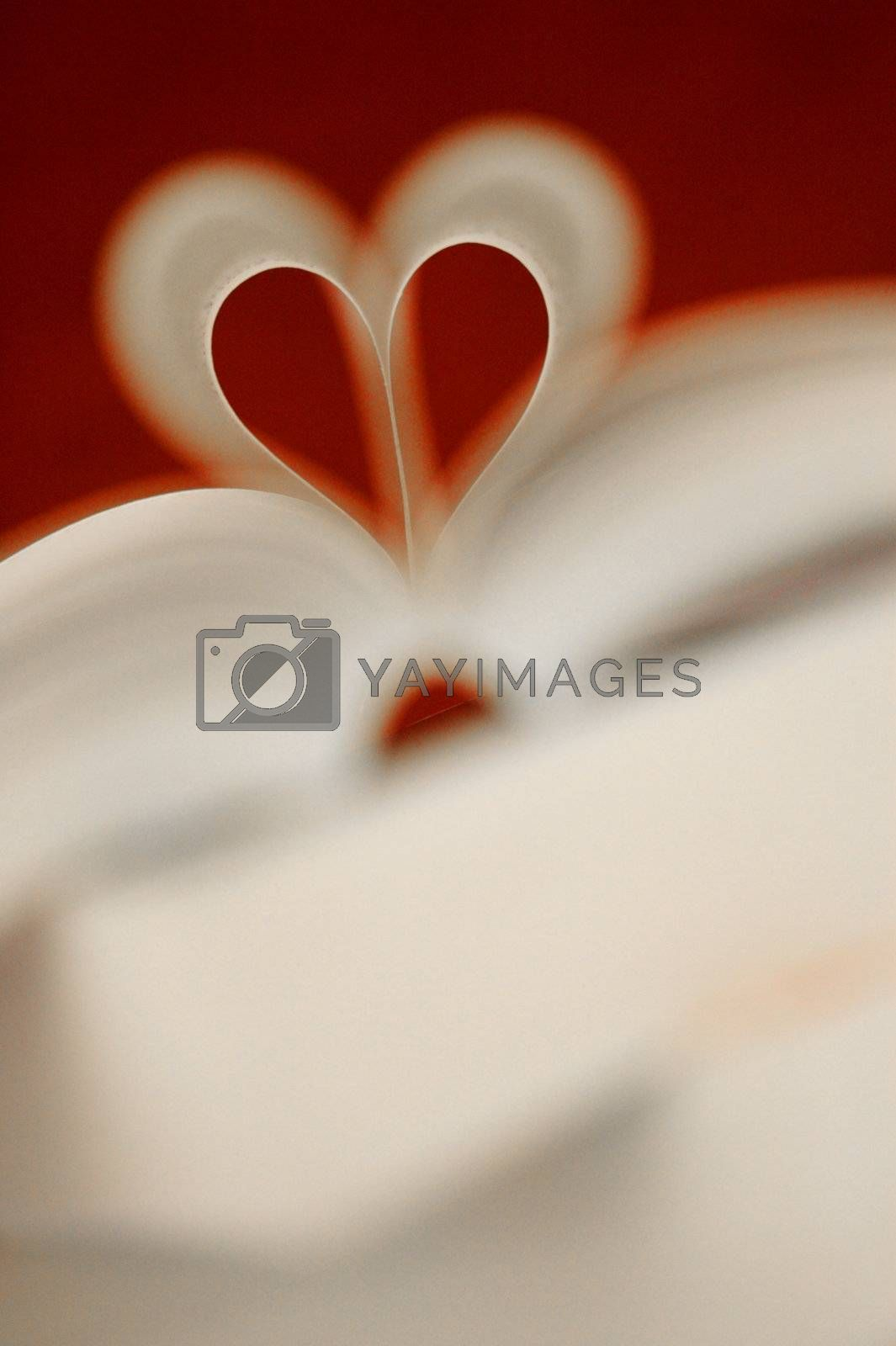 A love heart amongst the pages