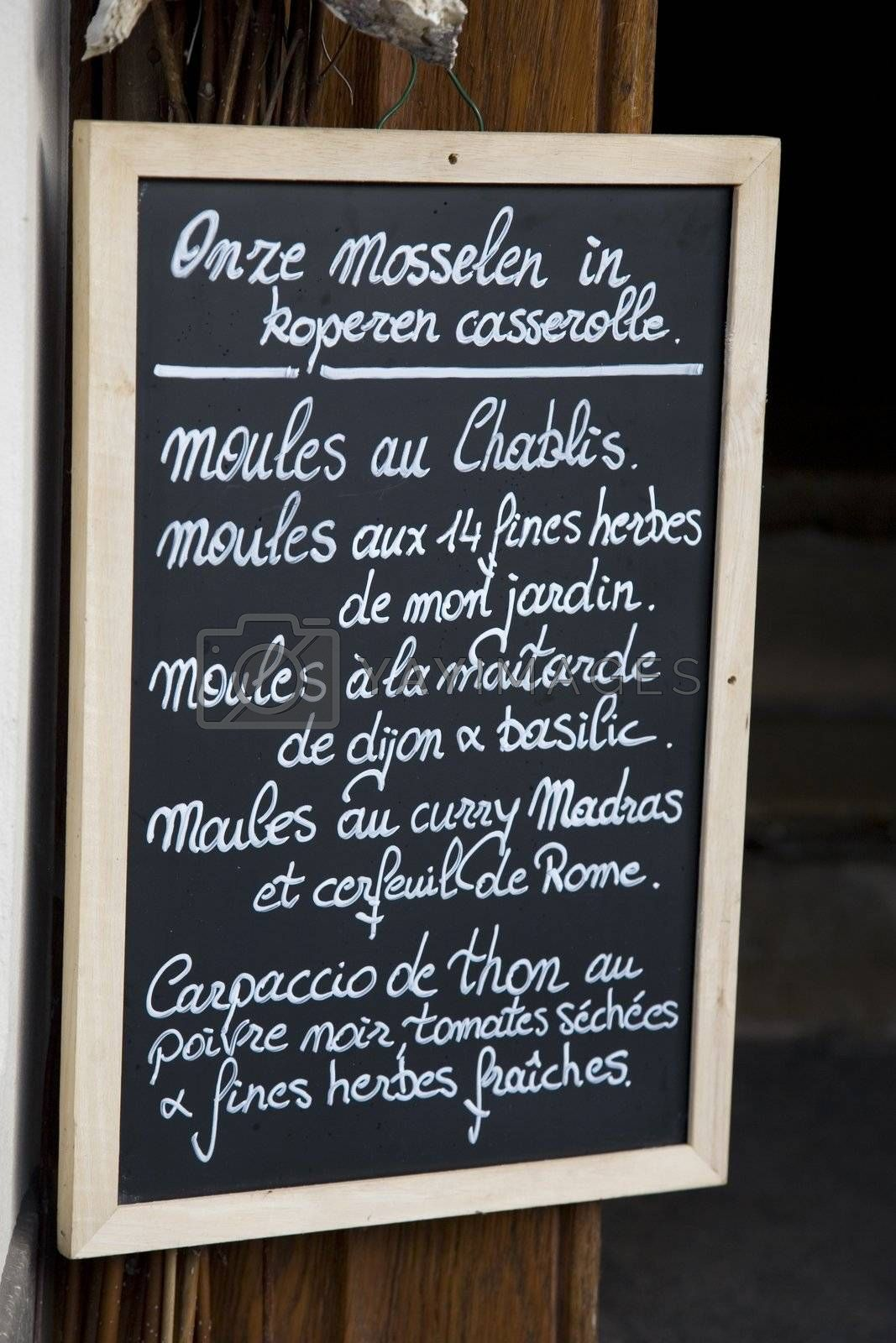 French and Flemish Menu by kevers