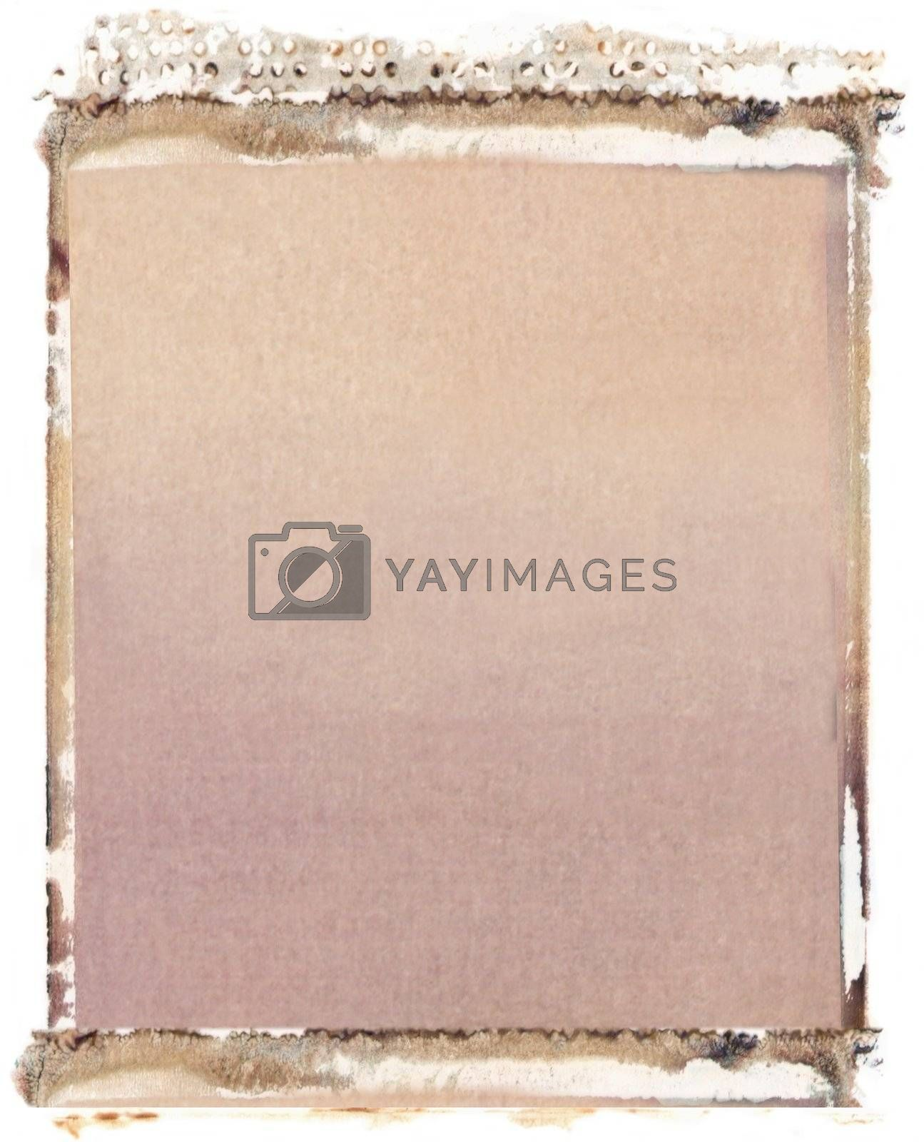 Blank 4x5 format photo border on white background