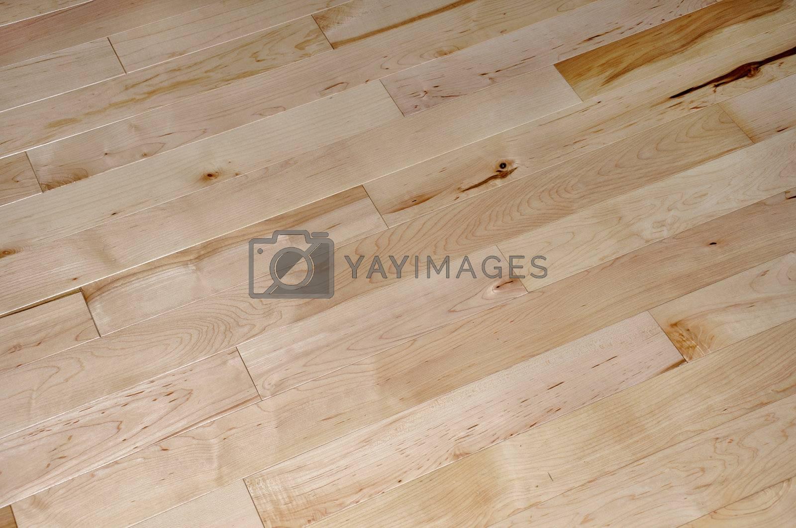 abstract view of an indoor hardwood floor