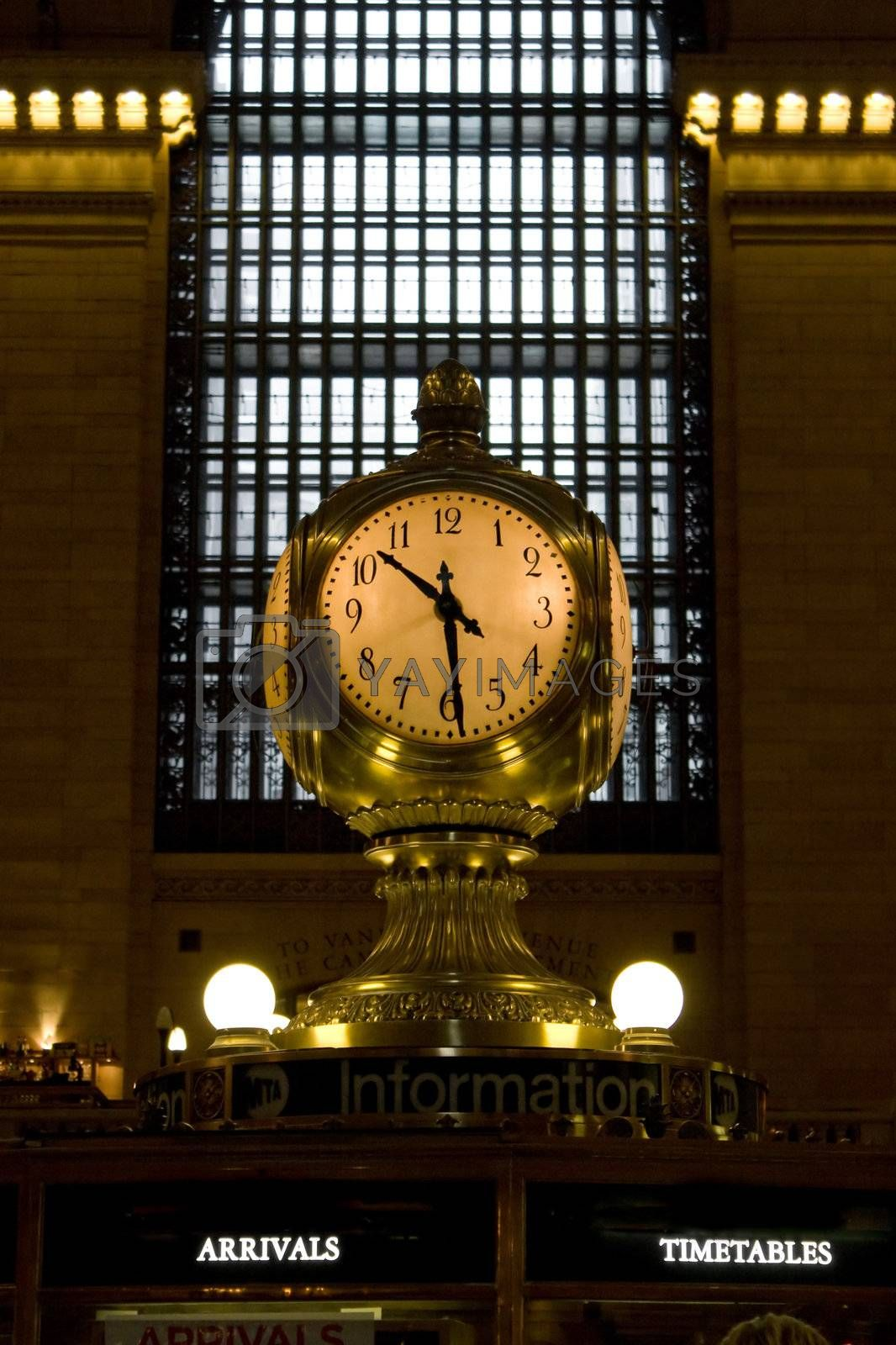 Grand Central Clock by graficallyminded