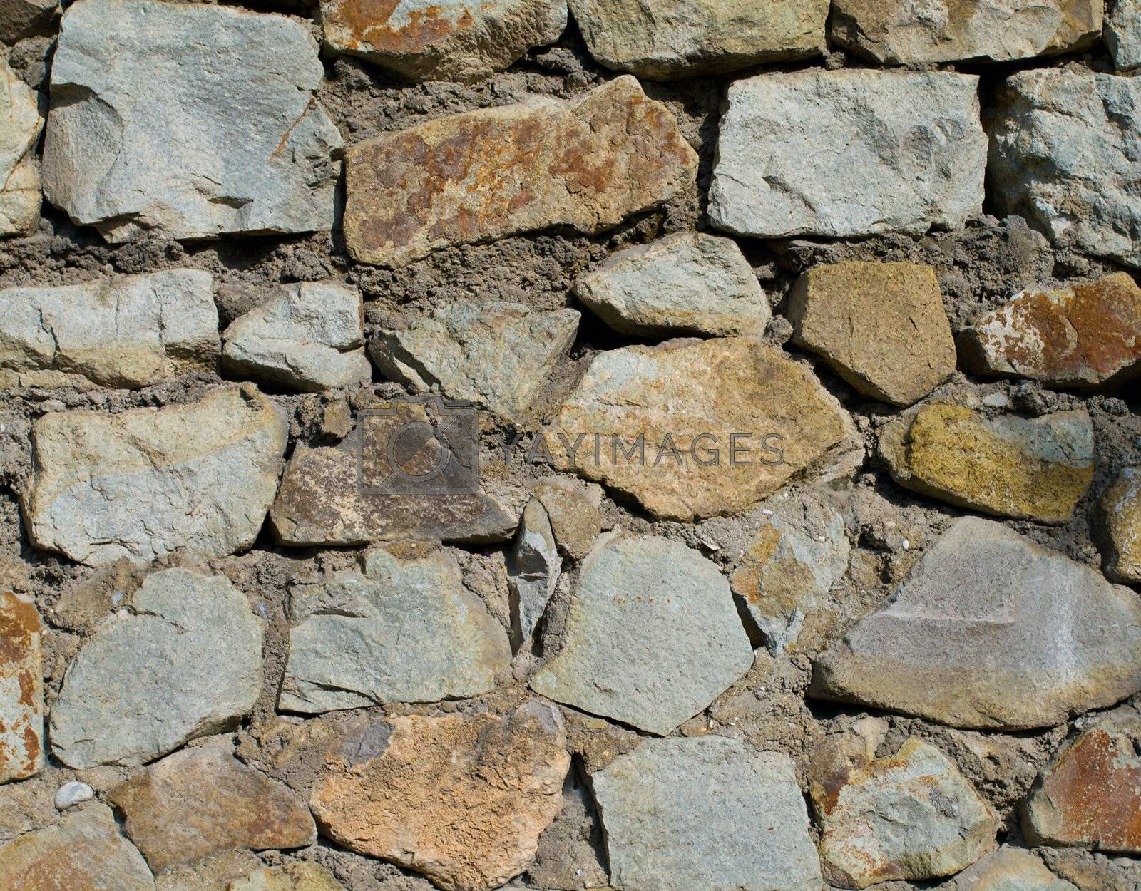 wall from big stones textured