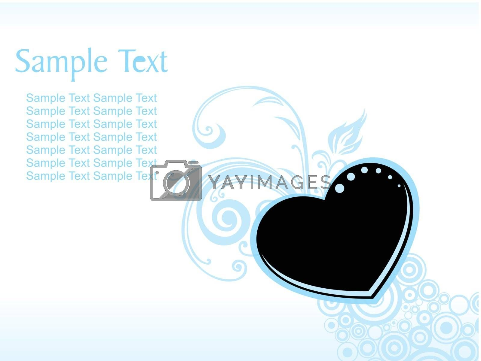vector wallpaper, background with heart, flower and circle element