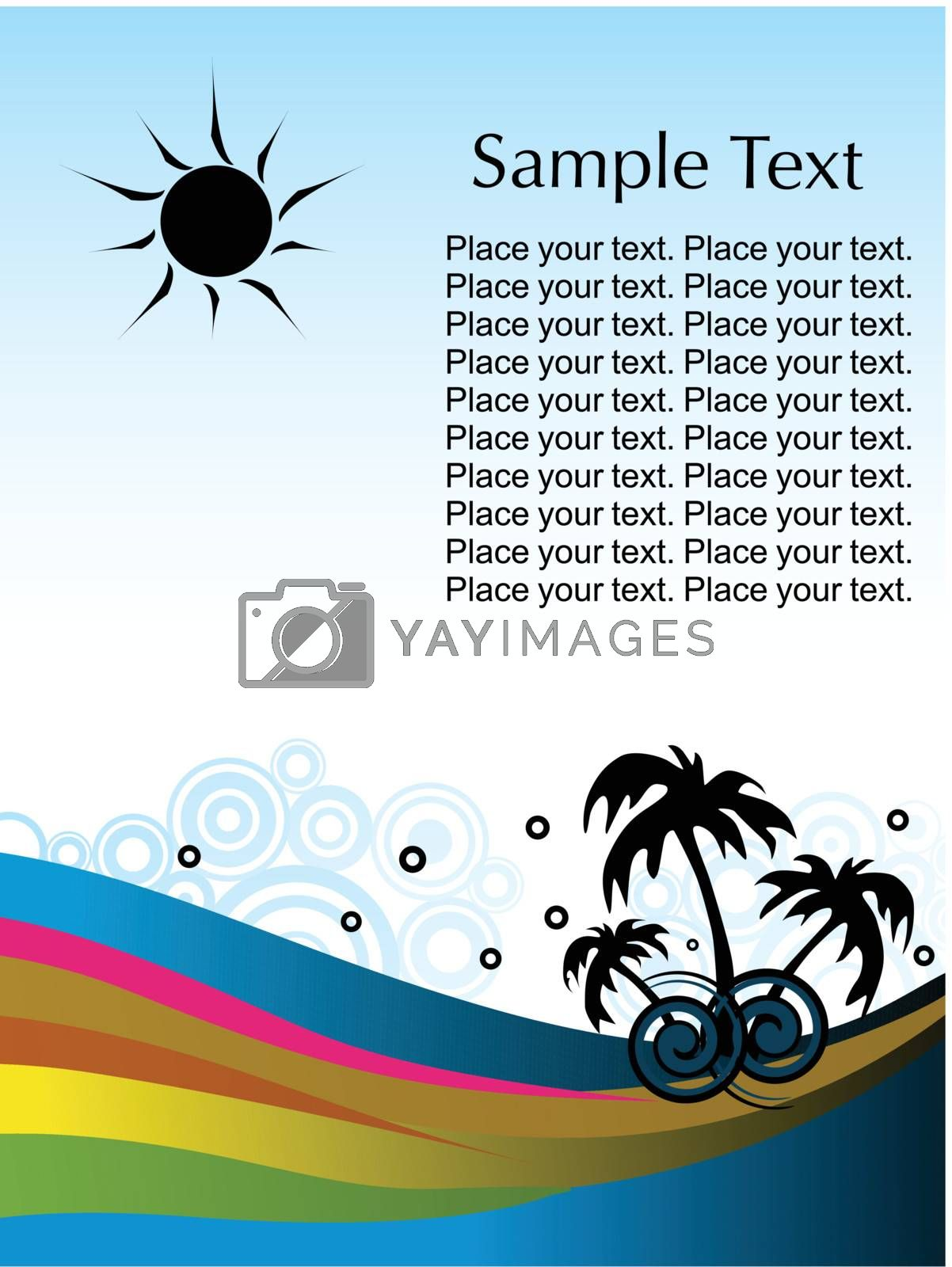 vector wallpaper, tropical background