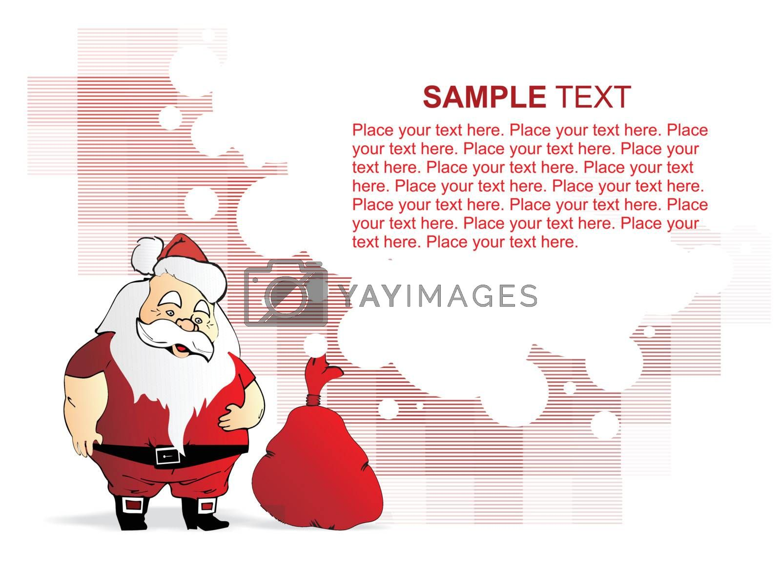 wallpaper of santa claus with his gift bag by aispl