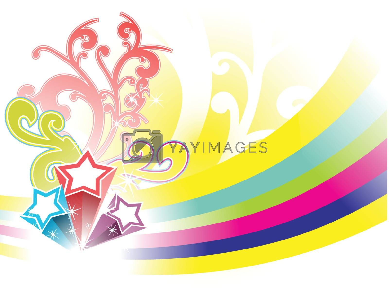 abstract element for fireworks background, wallpaper by aispl