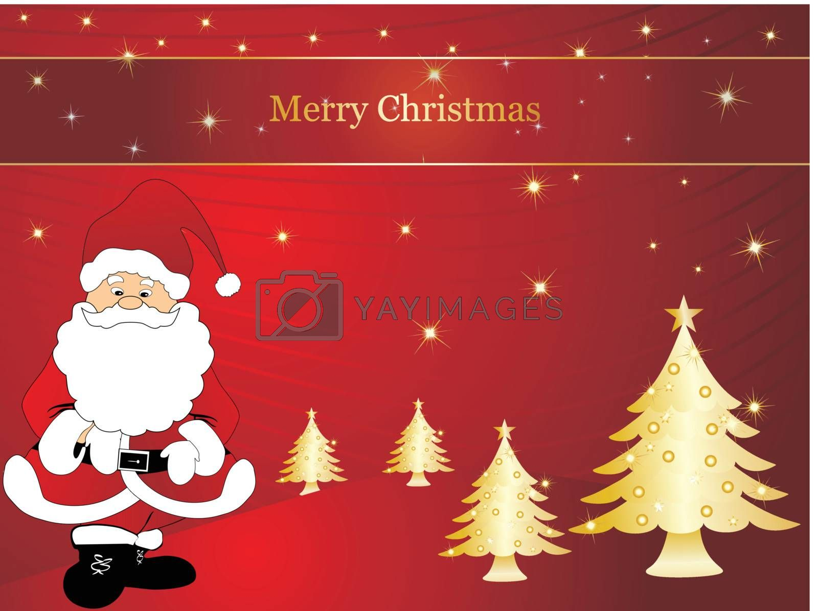 wallpaper, christmas vector background with santa claus by aispl