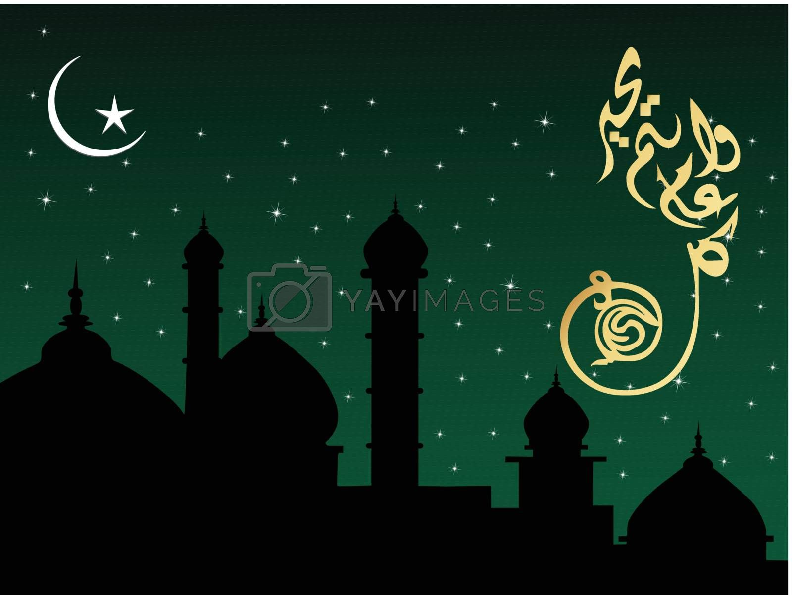 abstract frame with creative islamic background, design56