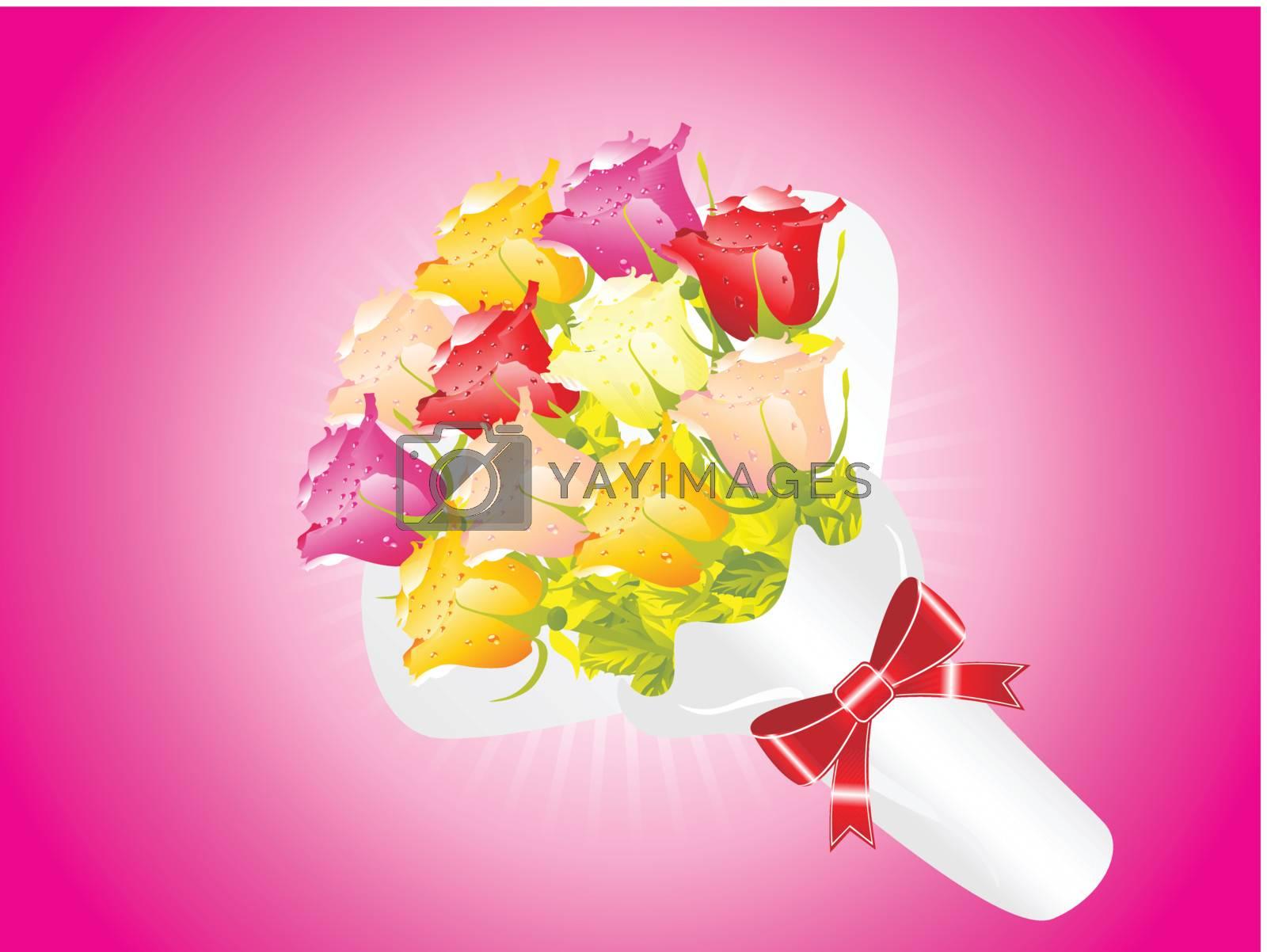 beautifull flower bouque series design4