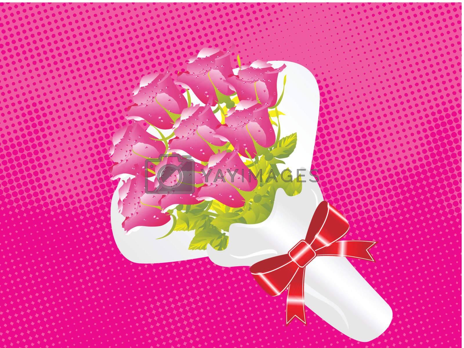 beautifull flower bouque series design3
