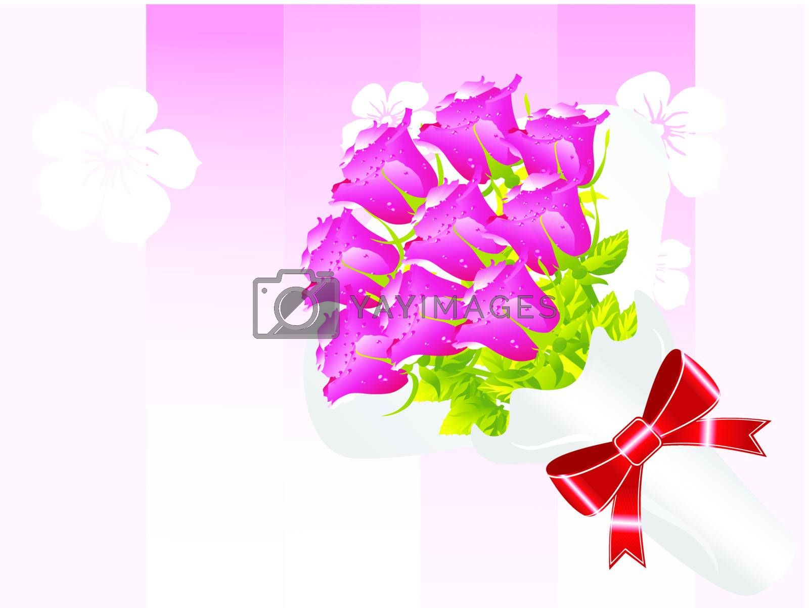 beautifull flower bouque series design9