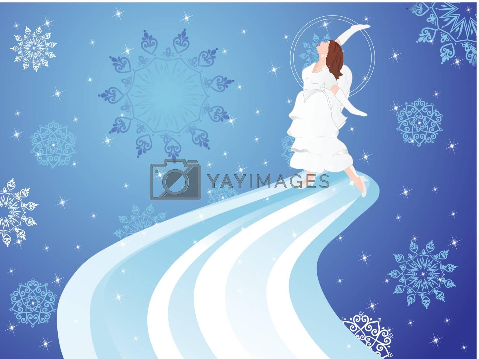 christmas fairy, Illustration by aispl