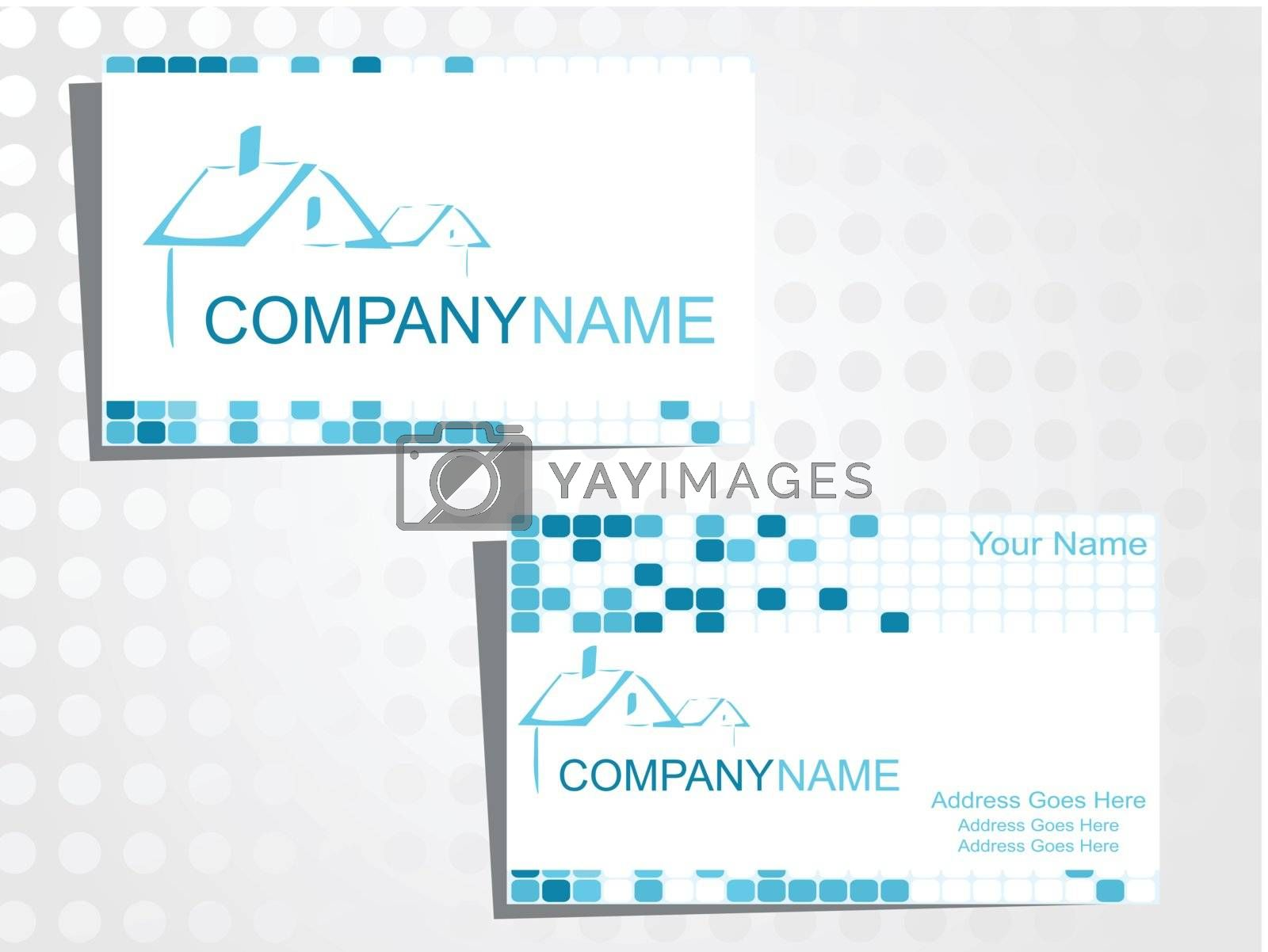 real state business card with logo_31