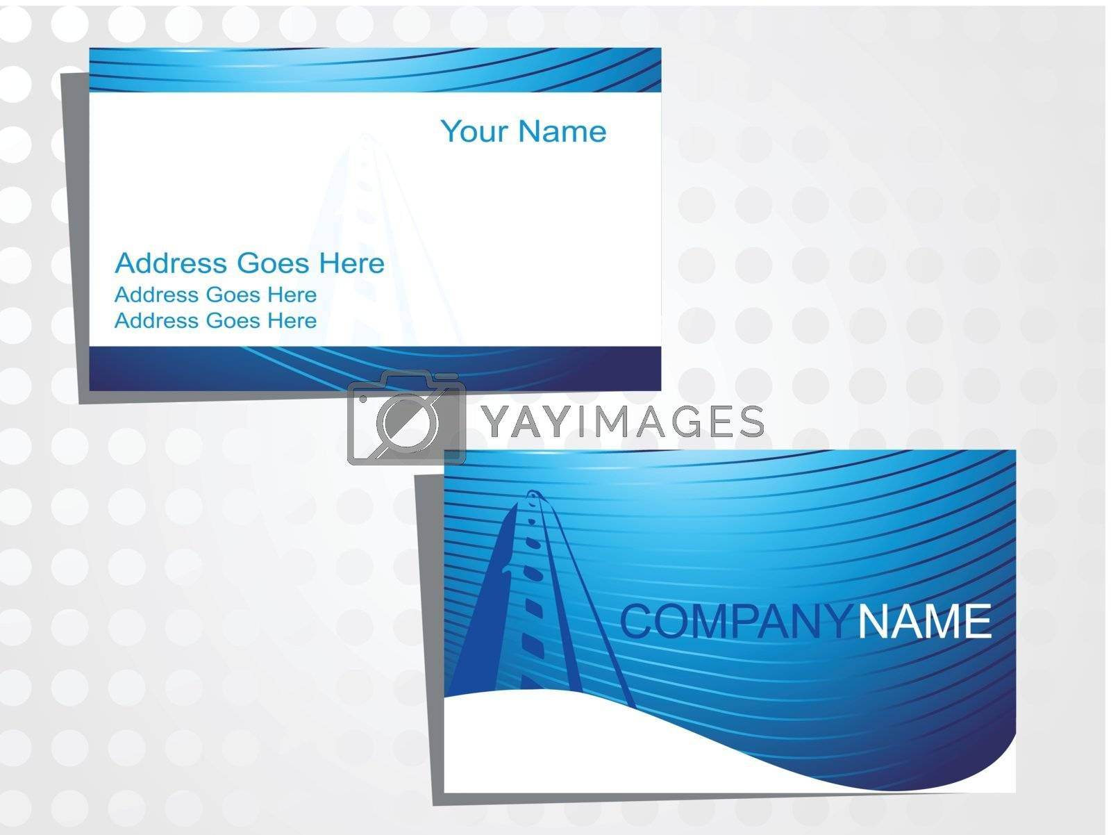 real state business card with logo_34