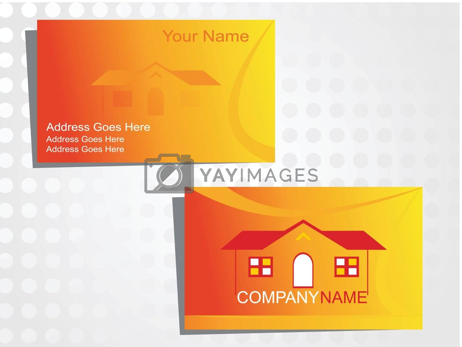 real state business card with logo_35