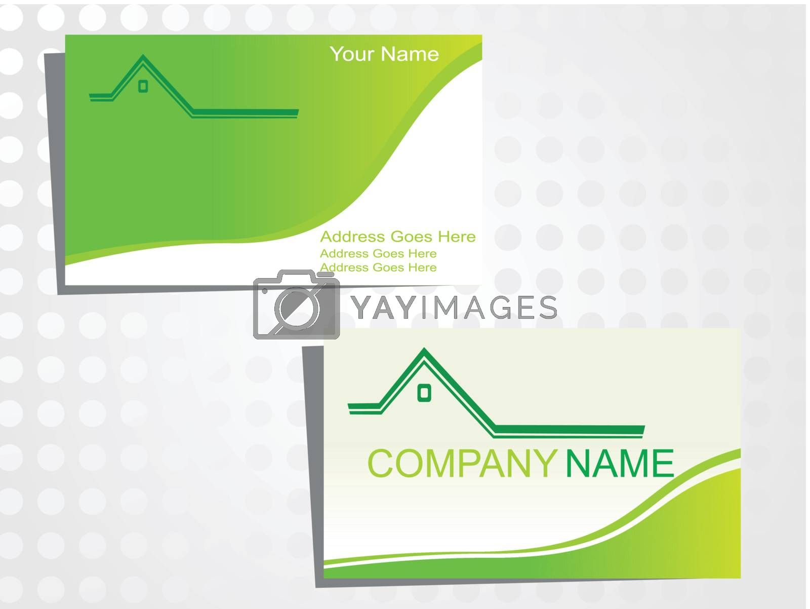 real state business card with logo_39
