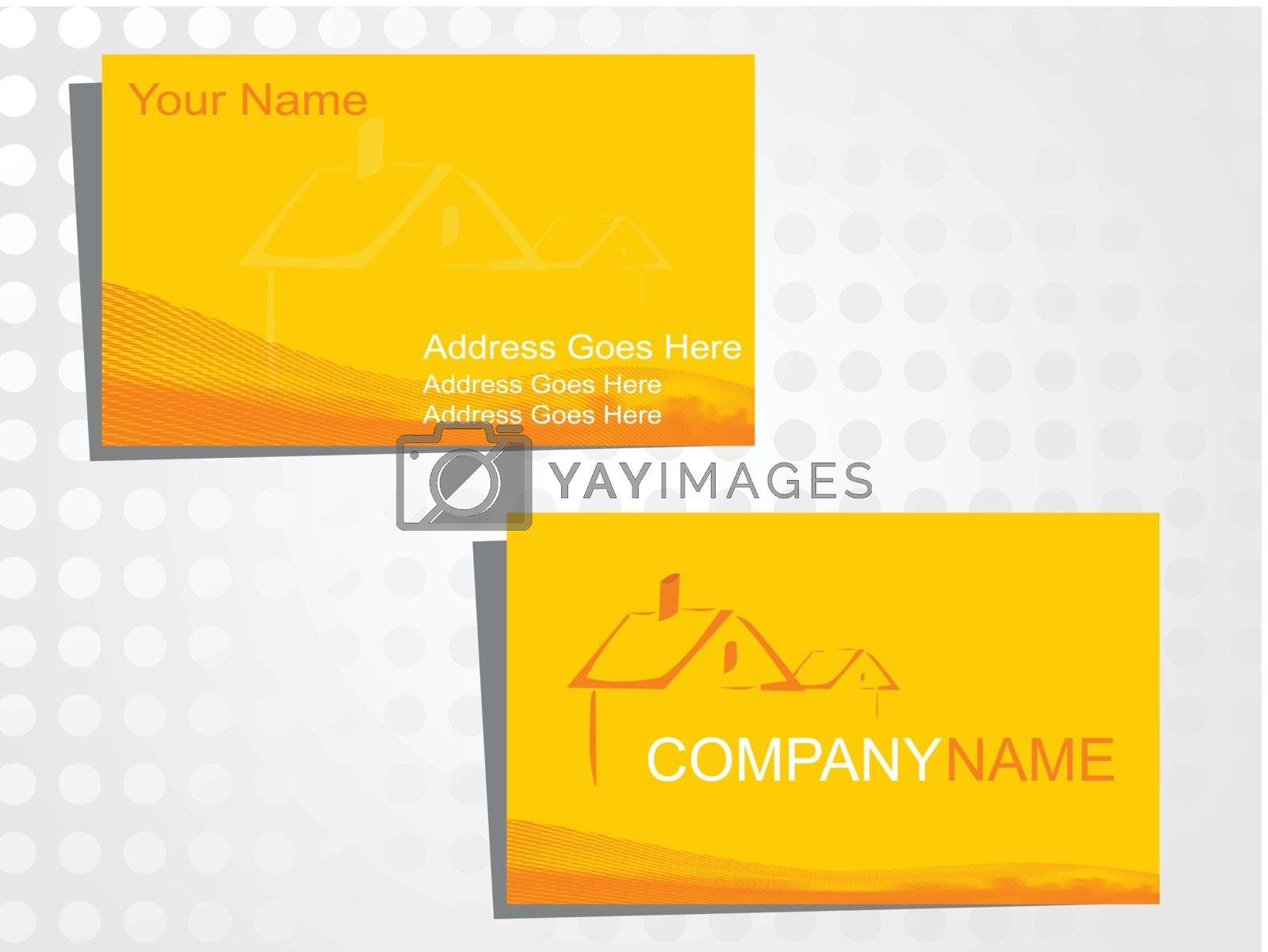 real state business card with logo_37
