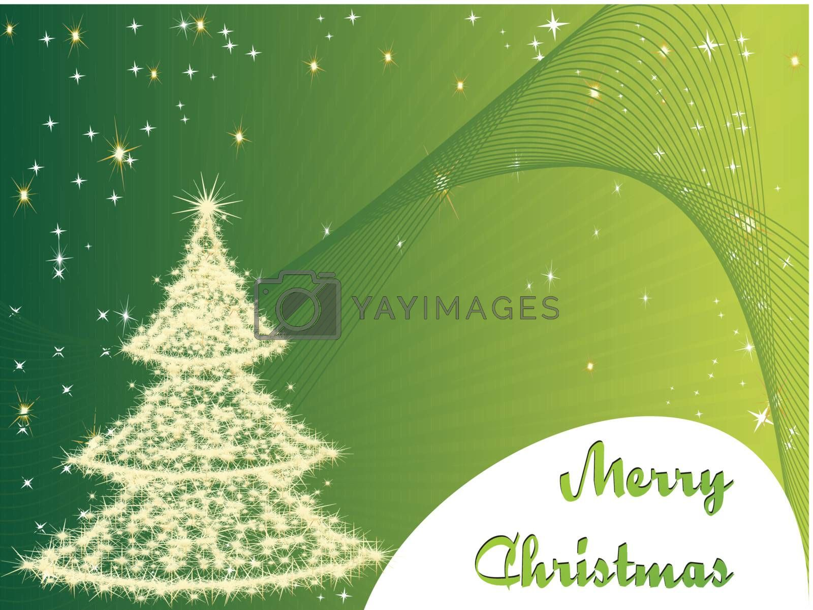 snowflakes in a christmas tree shape, illustration