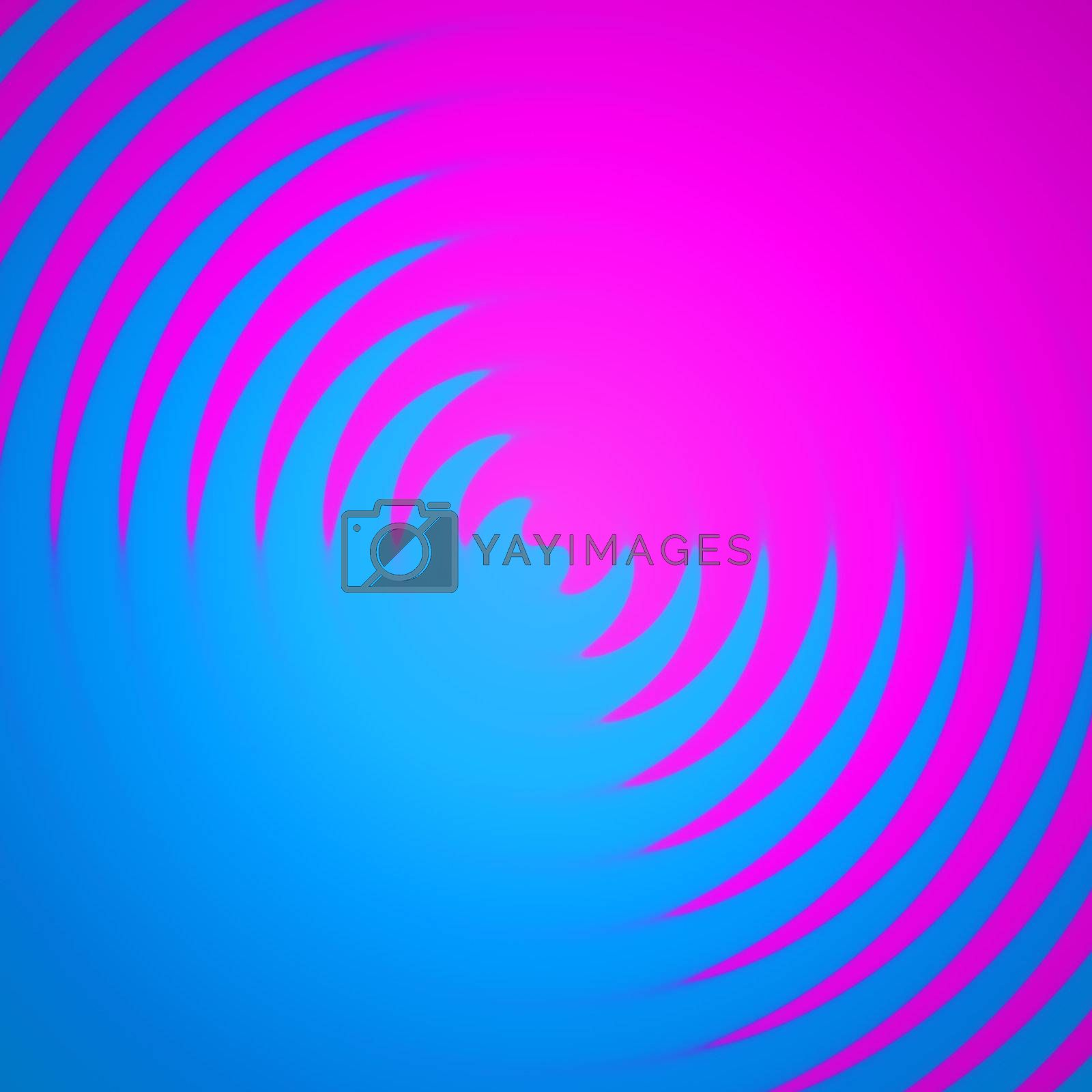 An abstract backdrop with pink and blue colors spiraling together.