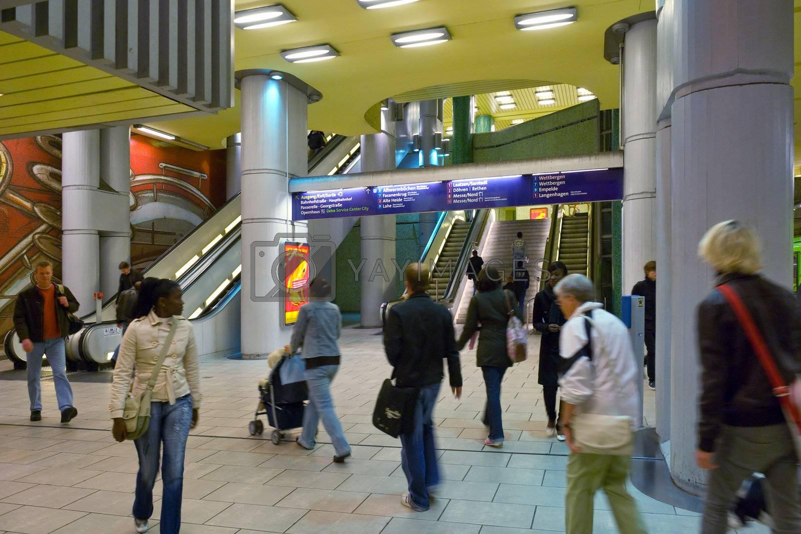 Subway station Kröpcke of Hanover, Germany