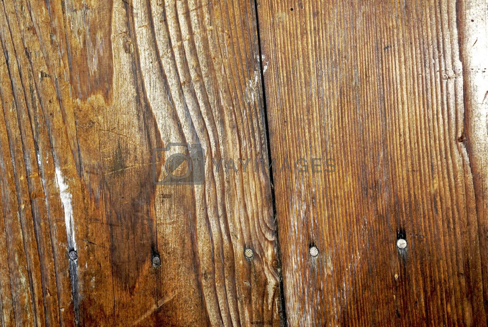 Part of old wooden fence