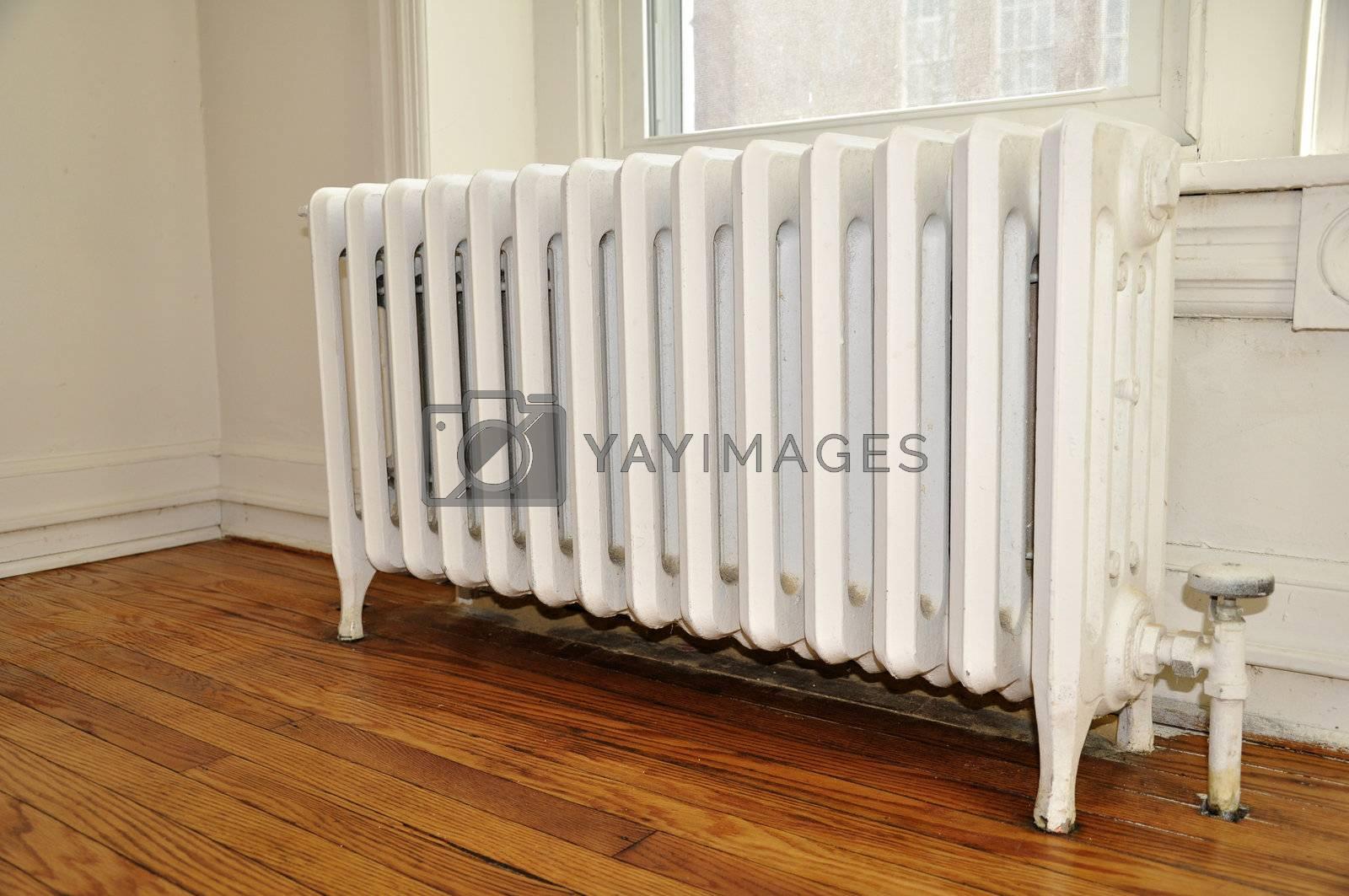 Royalty free image of white radiator by cfarmer