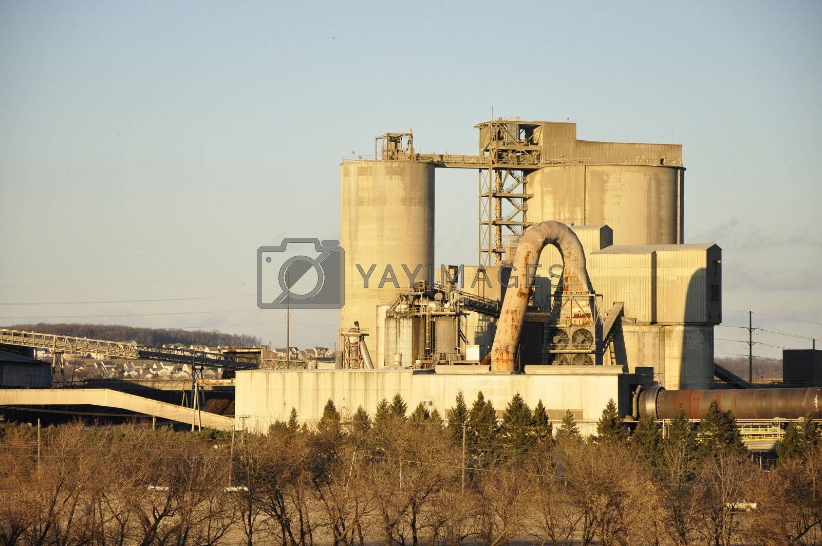 Royalty free image of cement factory by cfarmer