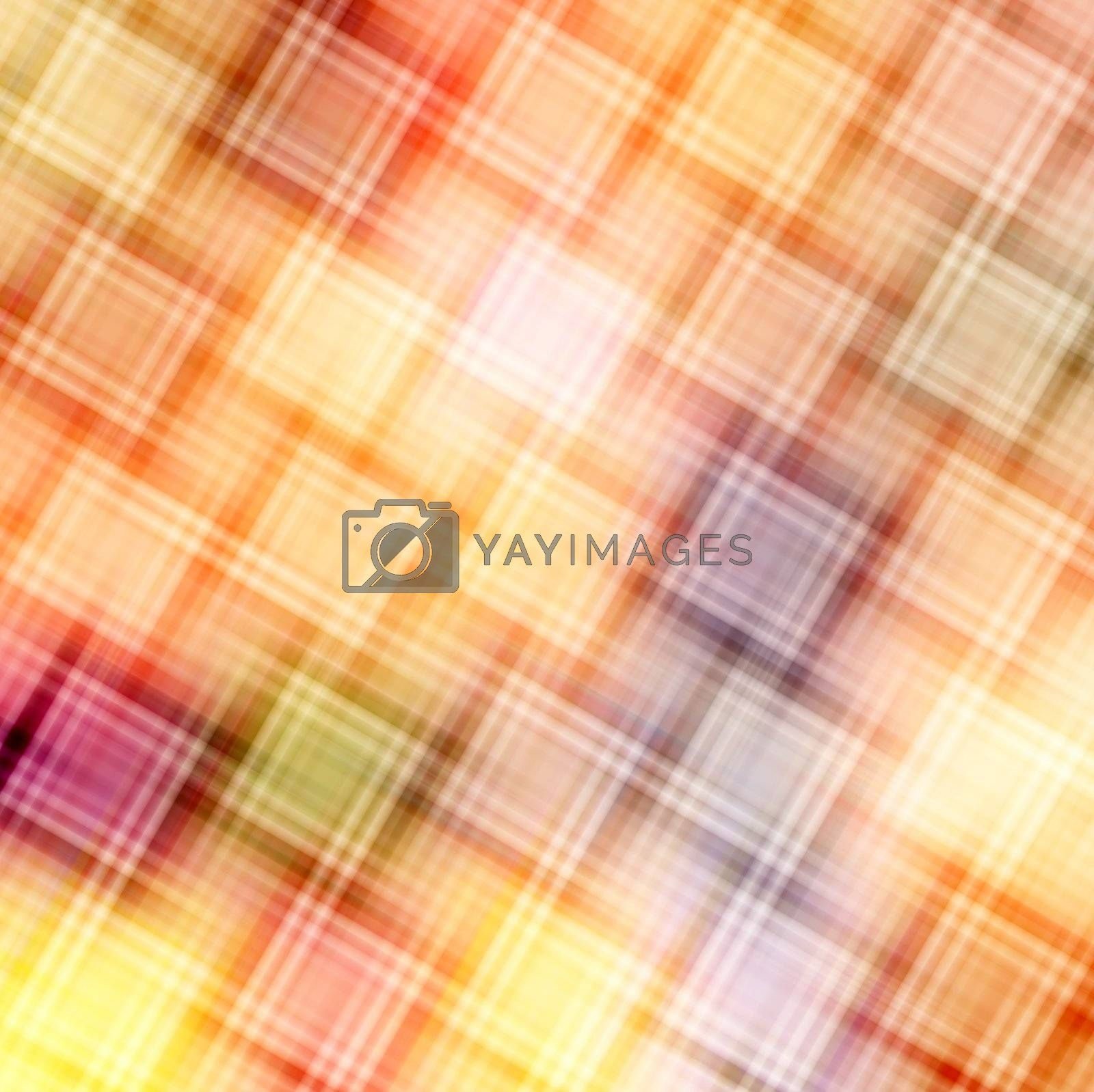 Pattern of diagonal blurred cubes in warm colors