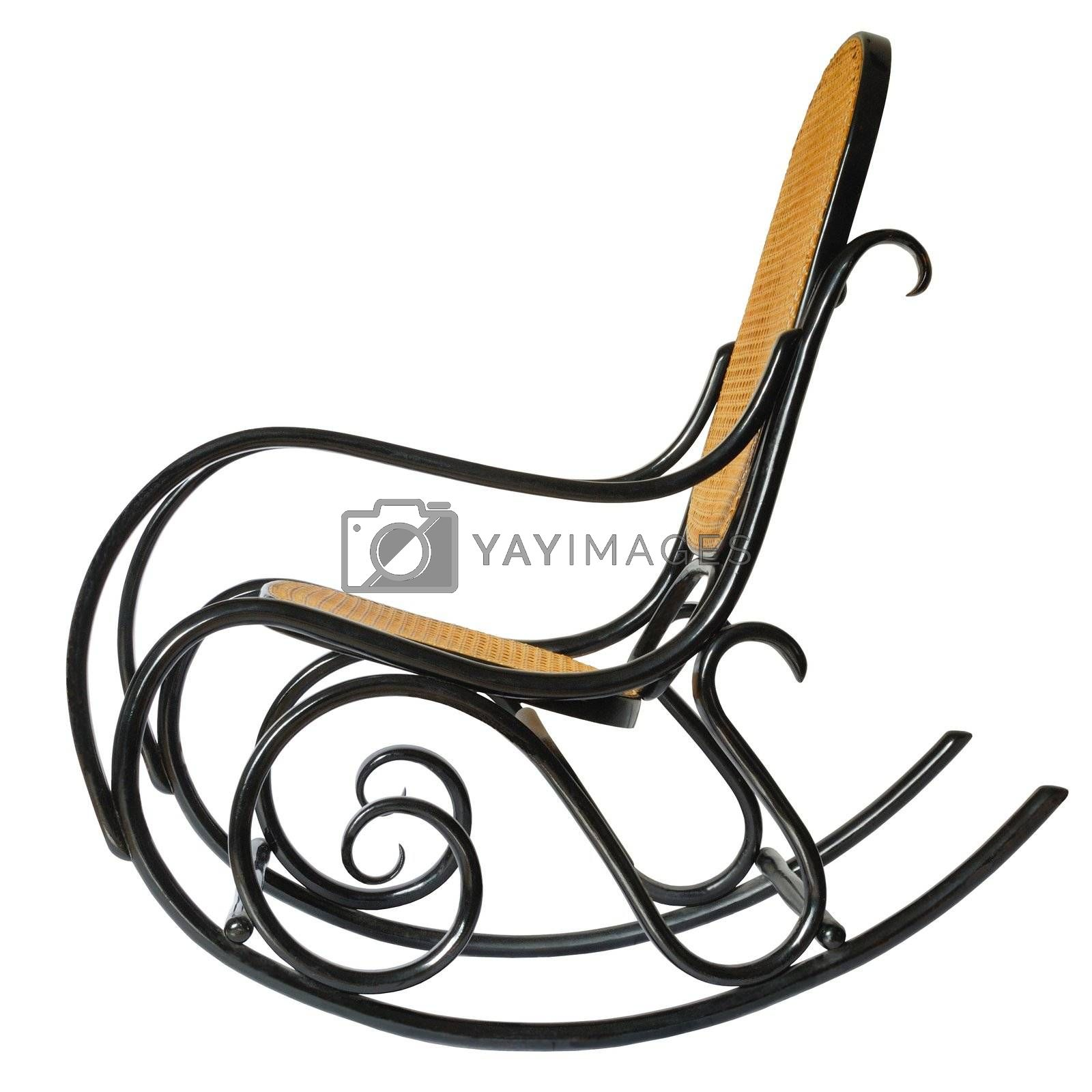 Isolated rocking chair