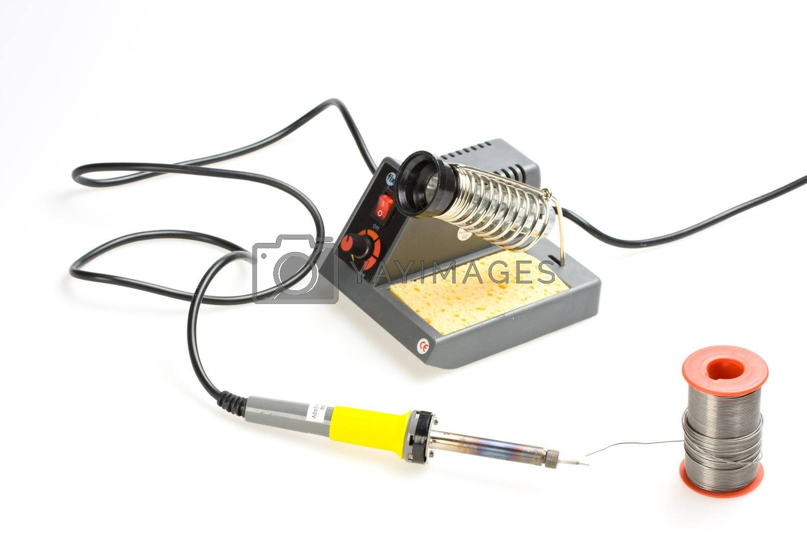 soldering station isolated on white background