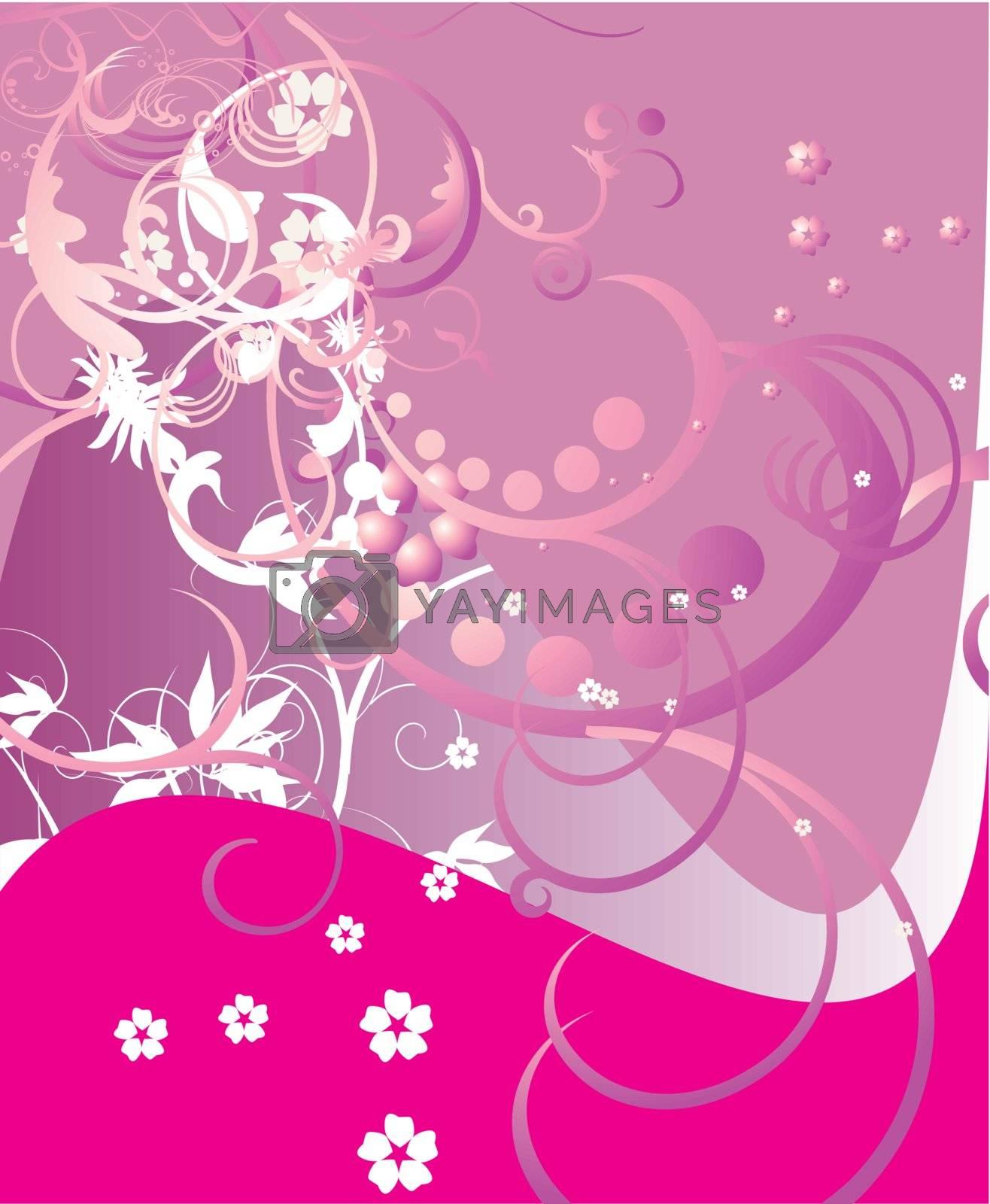 floral style backgrounds frame by zabudailo
