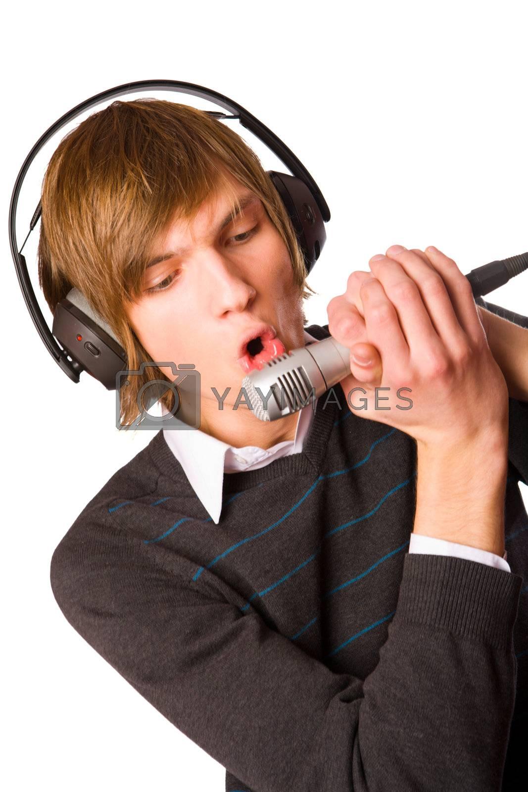 Young man singing by olga_sweet