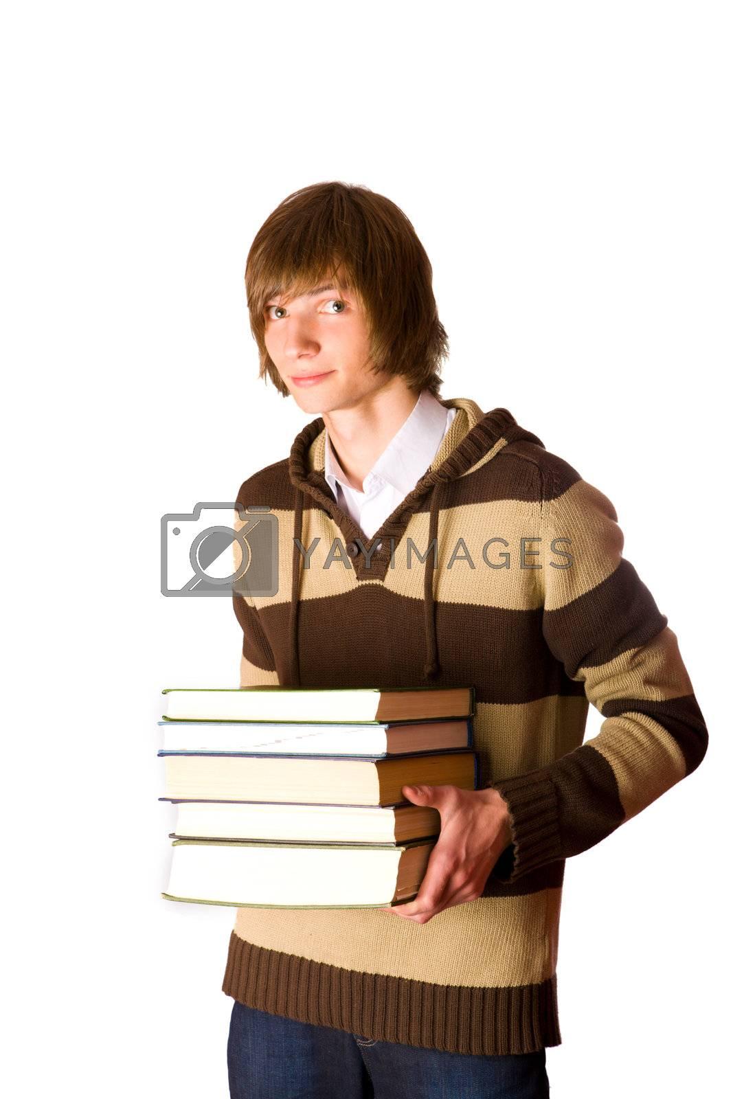 man holding books by olga_sweet