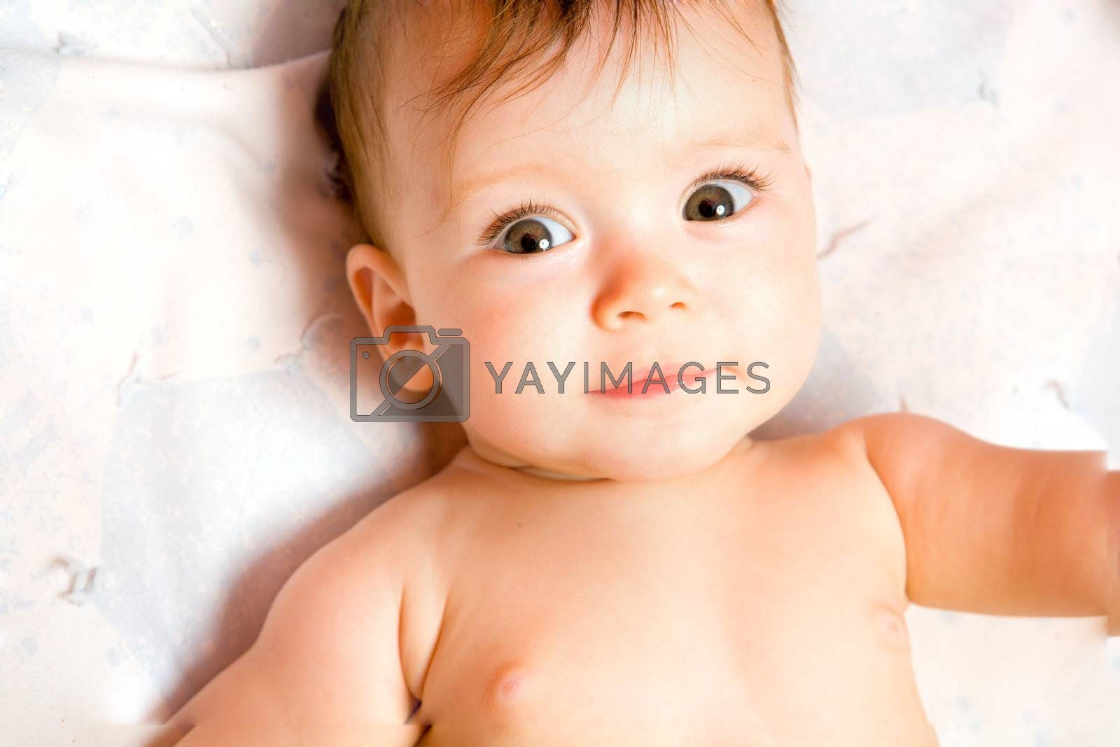 Adorable Seven month Baby looking at you