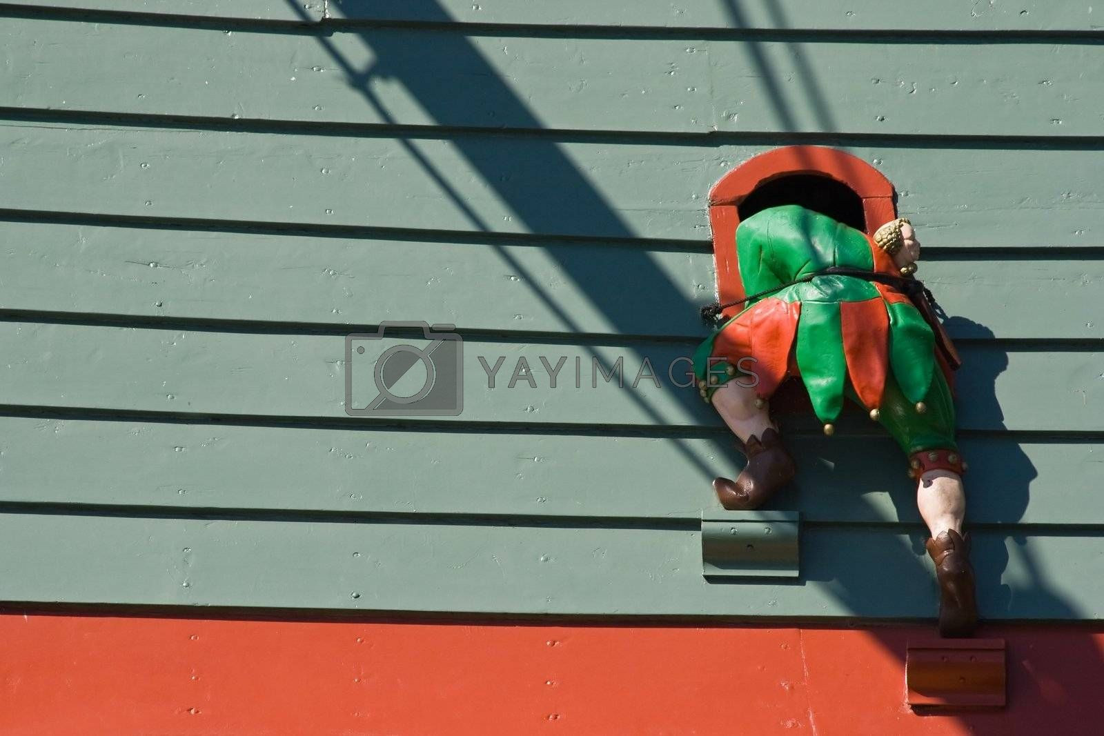 Wooden jester by Colette