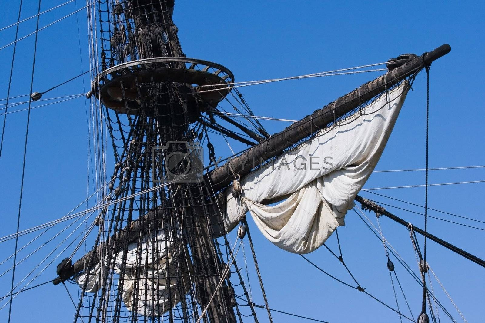 Mast, ropes and sails by Colette