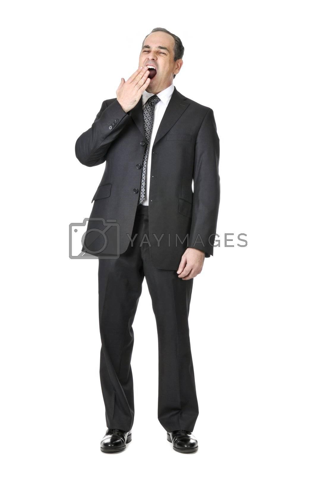 Businessman on white background by elenathewise