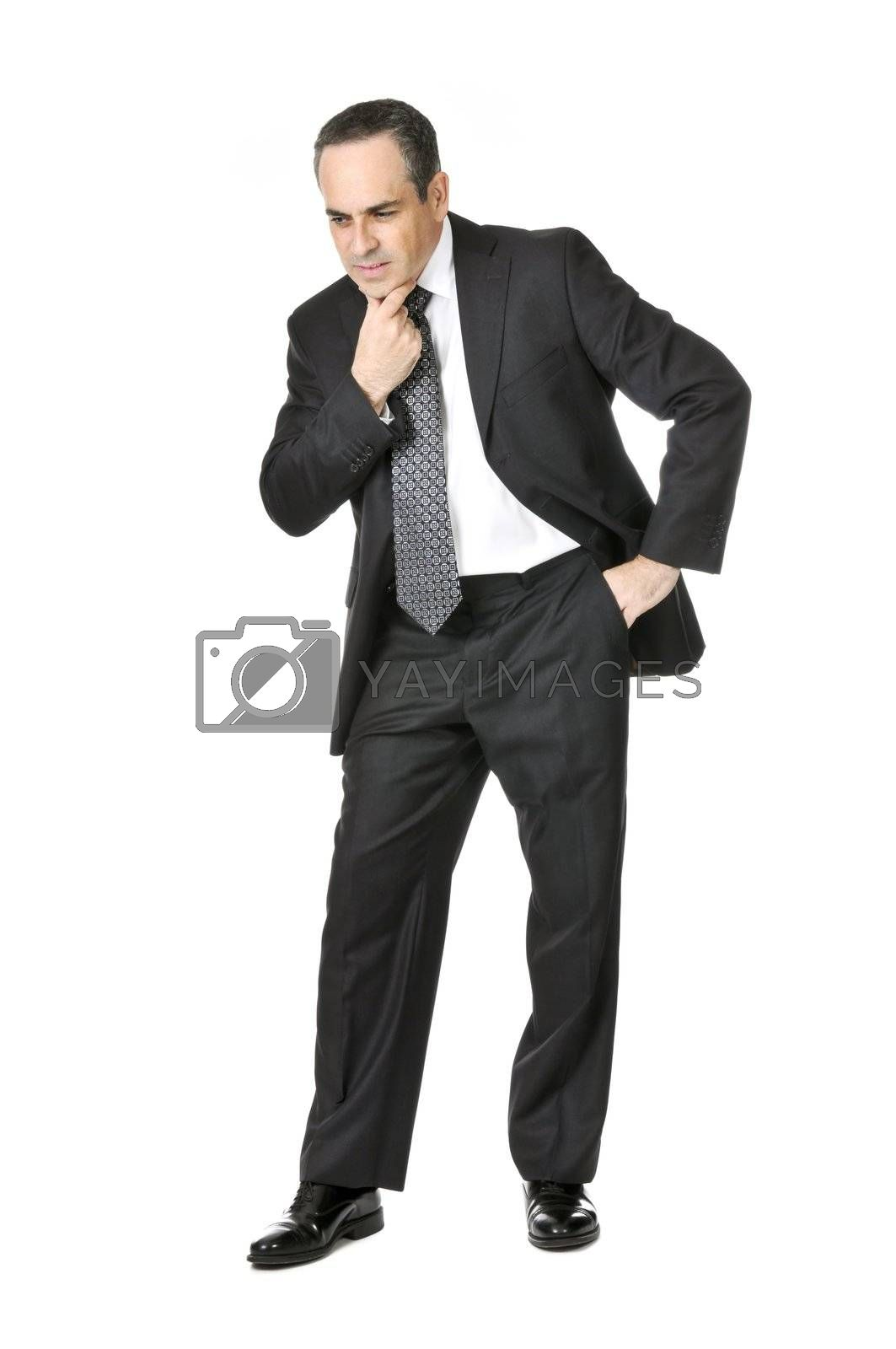 Businessman on white background by elenathewise
