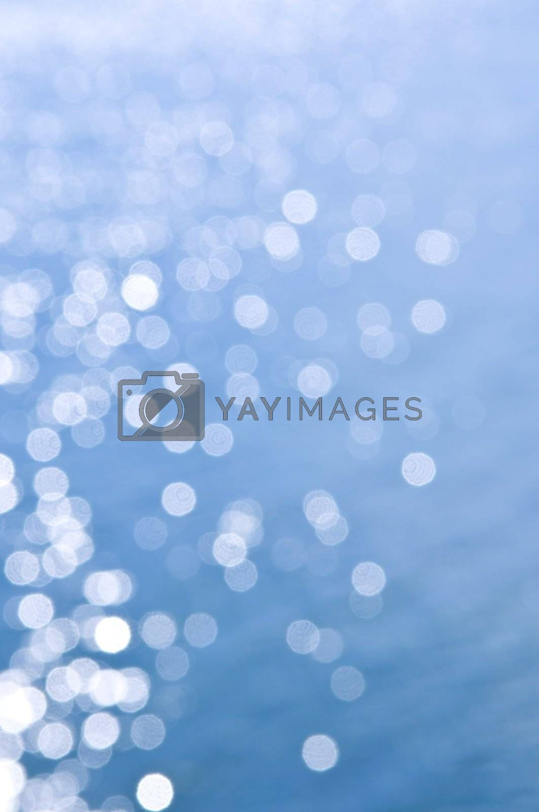 Blue water background by elenathewise