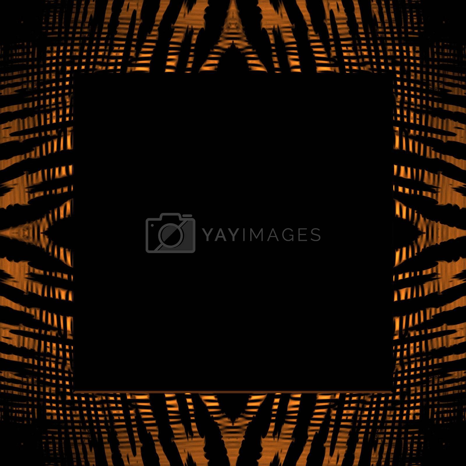 Tiger Stripe Frame by graficallyminded