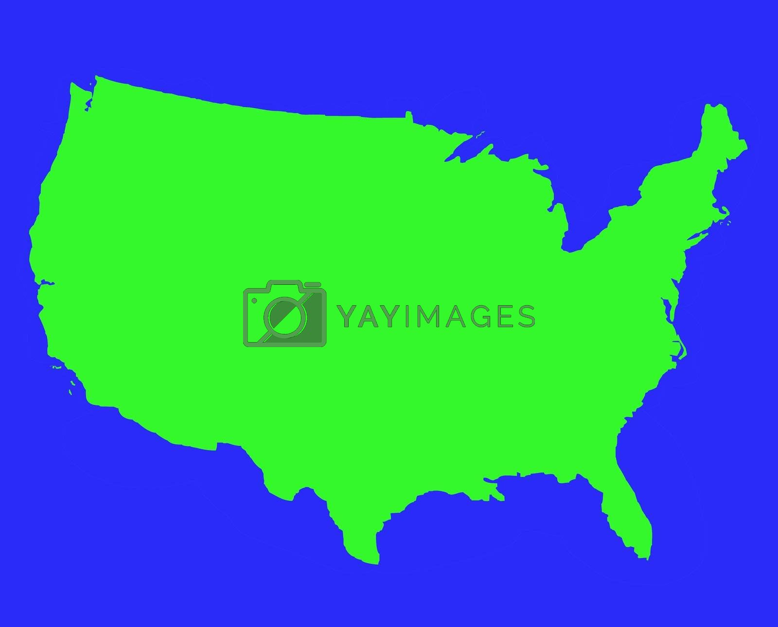 United States of America outline map by speedfighter