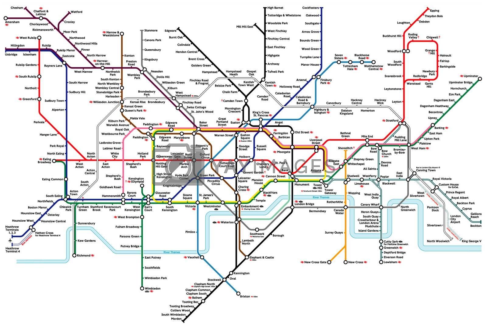 London Underground Tube map by speedfighter