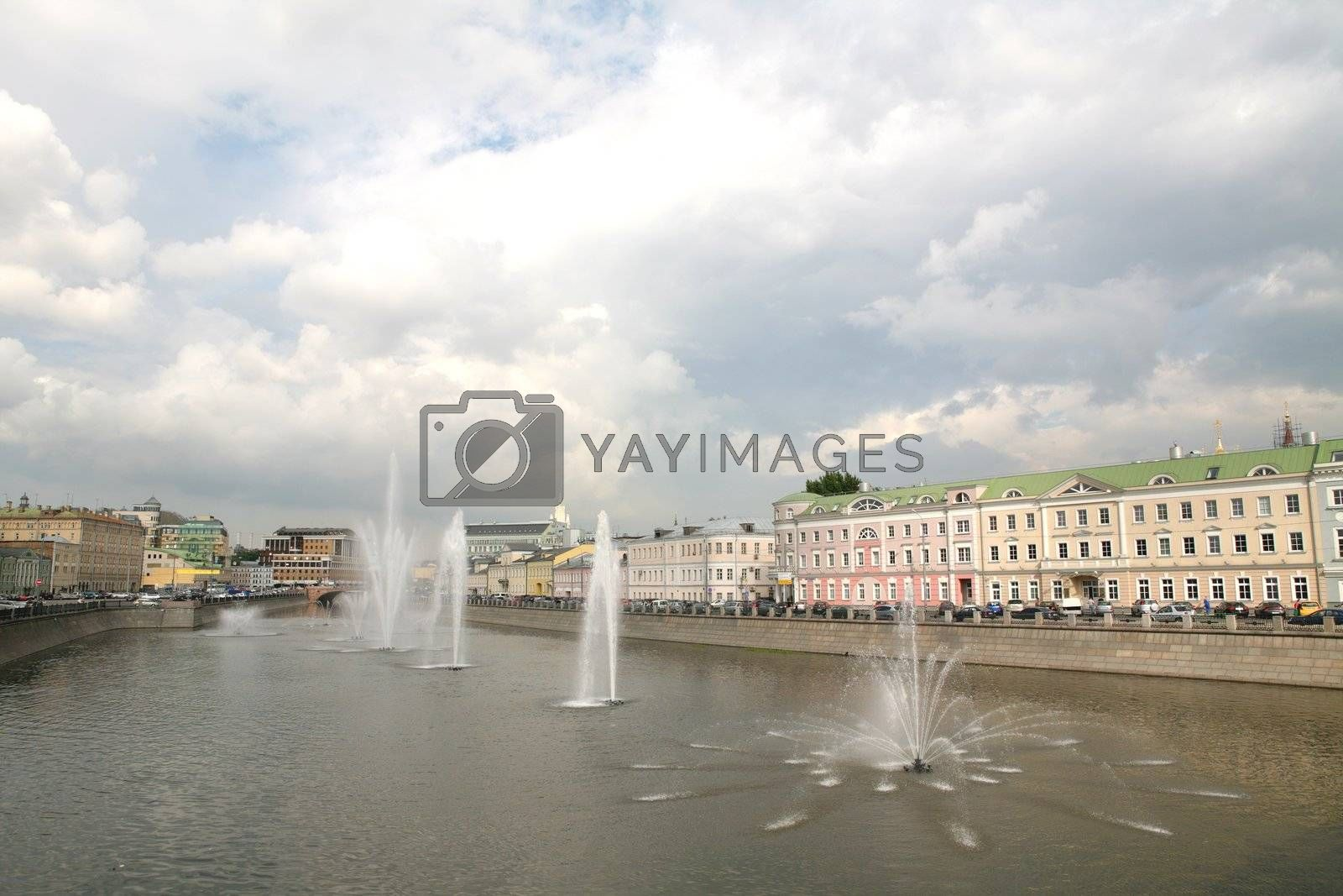 Moscow Fountains in Drainage Channel by Astroid