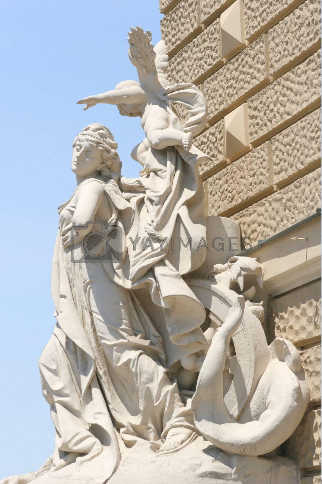 Antique Sculptural Composition by Astroid