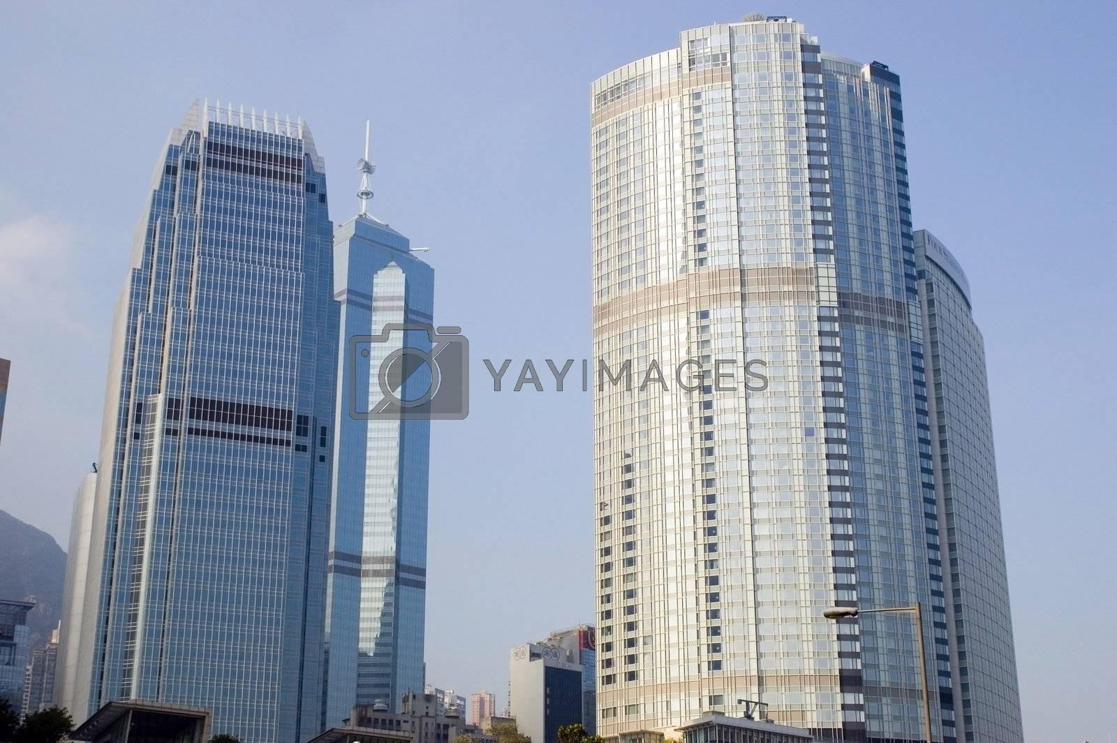 Hongkong cityscape by bartekchiny