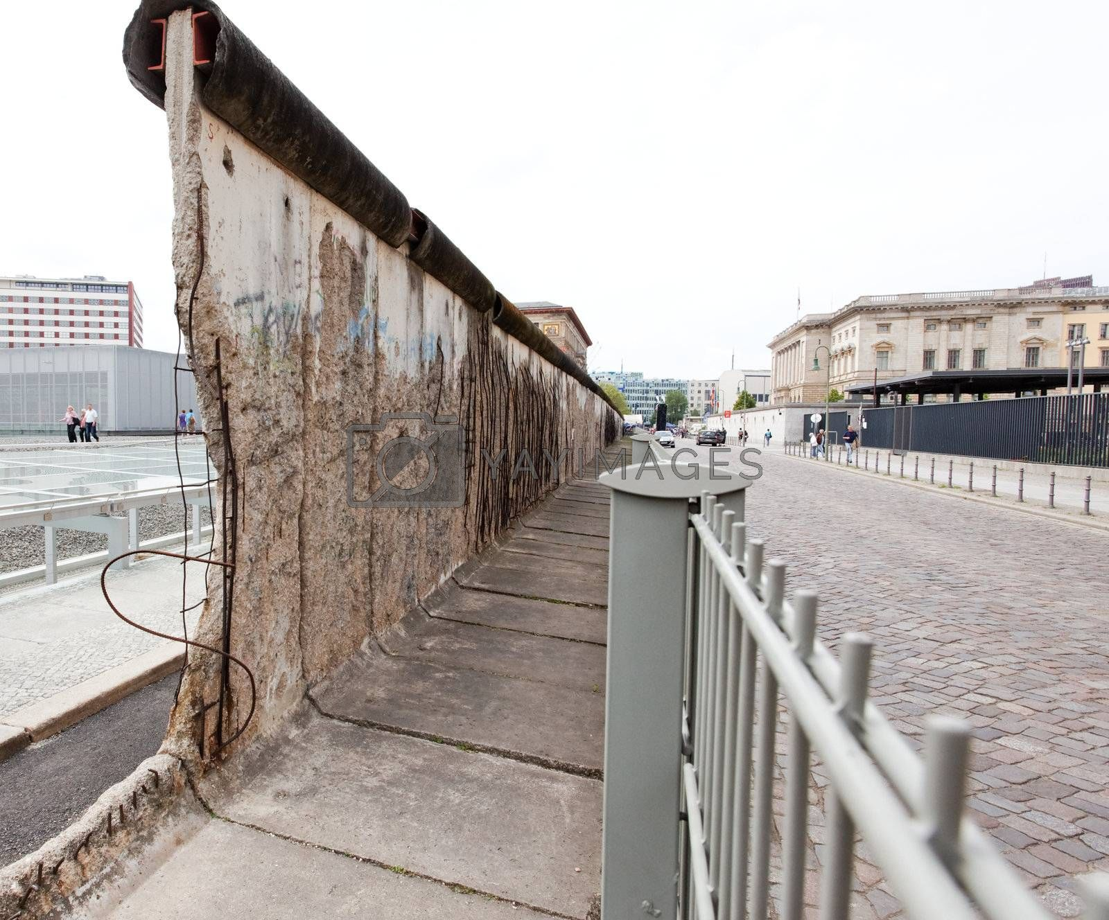 The remains of berlin wall in Berlin Gemany