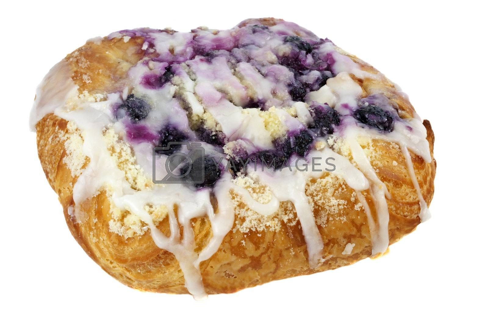 blueberry cheese danish pastry by PixelsAway
