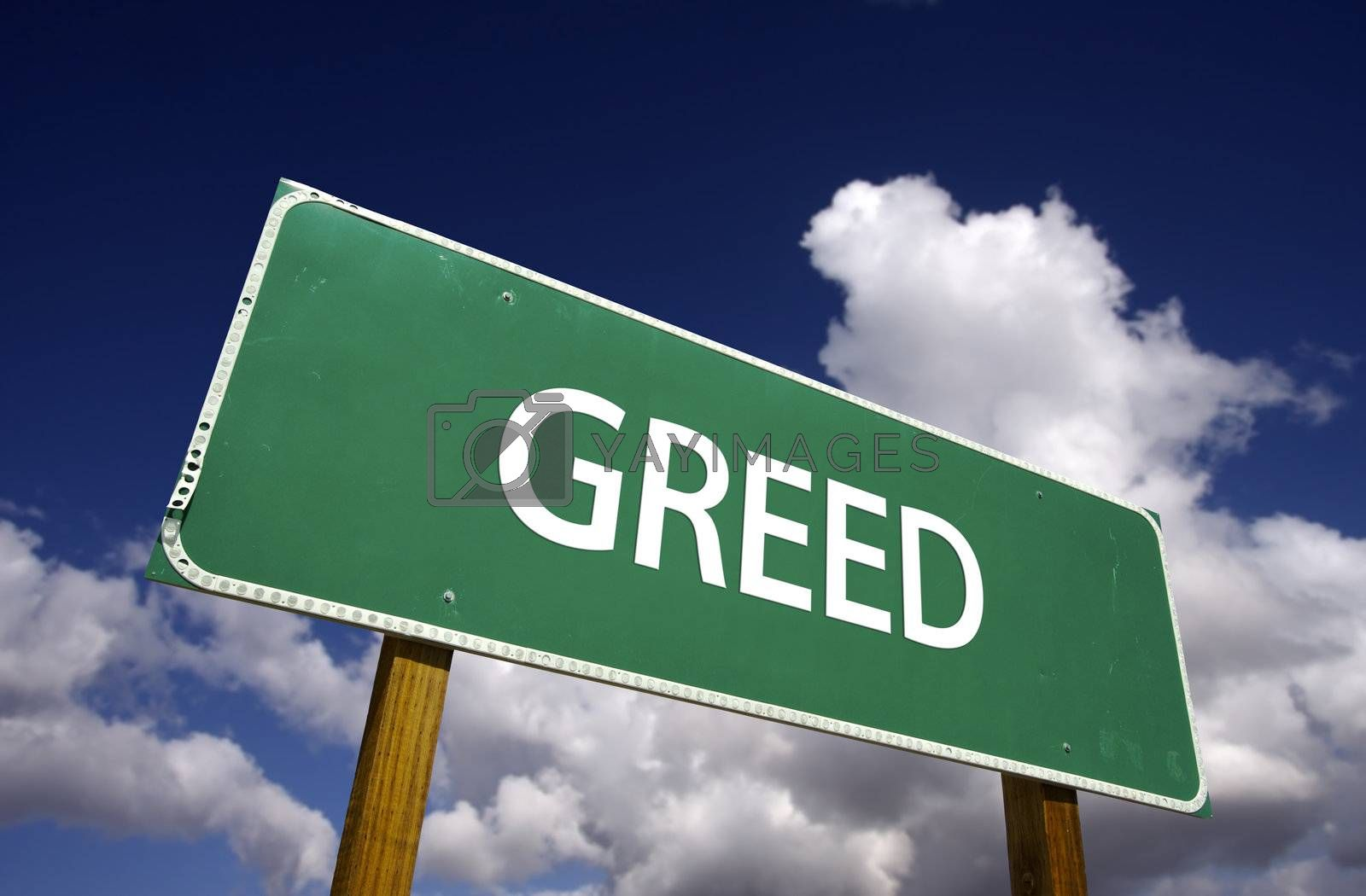 Greed Road Sign by Feverpitched